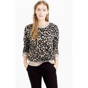 NWOT J. Crew Leopard Print Crewneck Sweatshirt